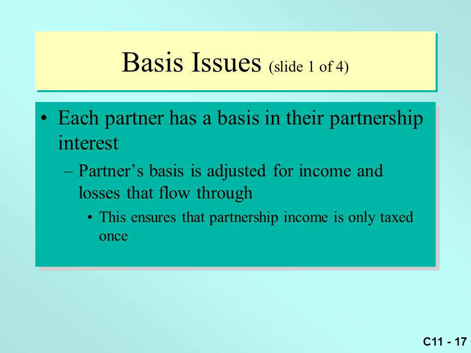 Basis Issues (slide 1 of 4)