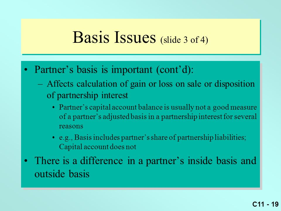 Basis Issues (slide 3 of 4)