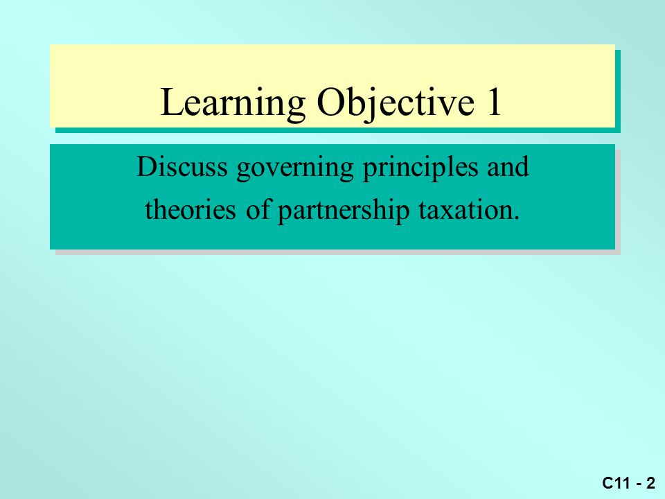Learning Objective 1 Discuss governing principles and