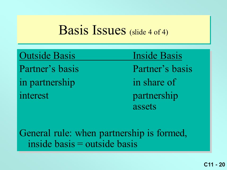 Basis Issues (slide 4 of 4)