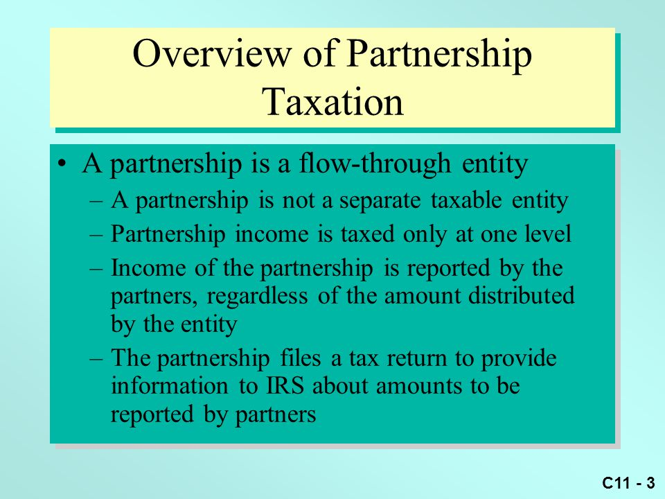 Overview of Partnership Taxation