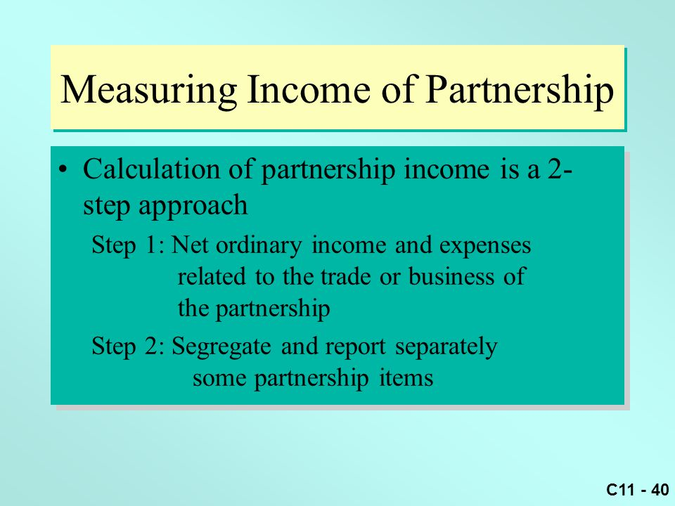 Measuring Income of Partnership