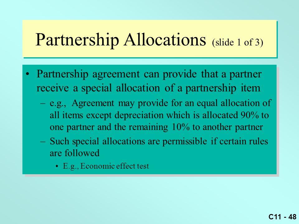 Partnership Allocations (slide 1 of 3)