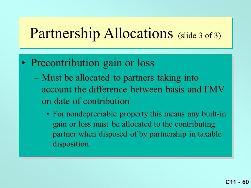 Partnership Allocations (slide 3 of 3)