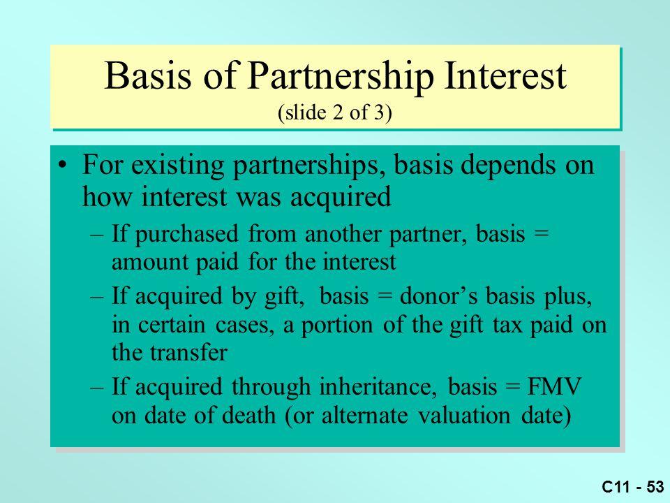 Basis of Partnership Interest (slide 2 of 3)