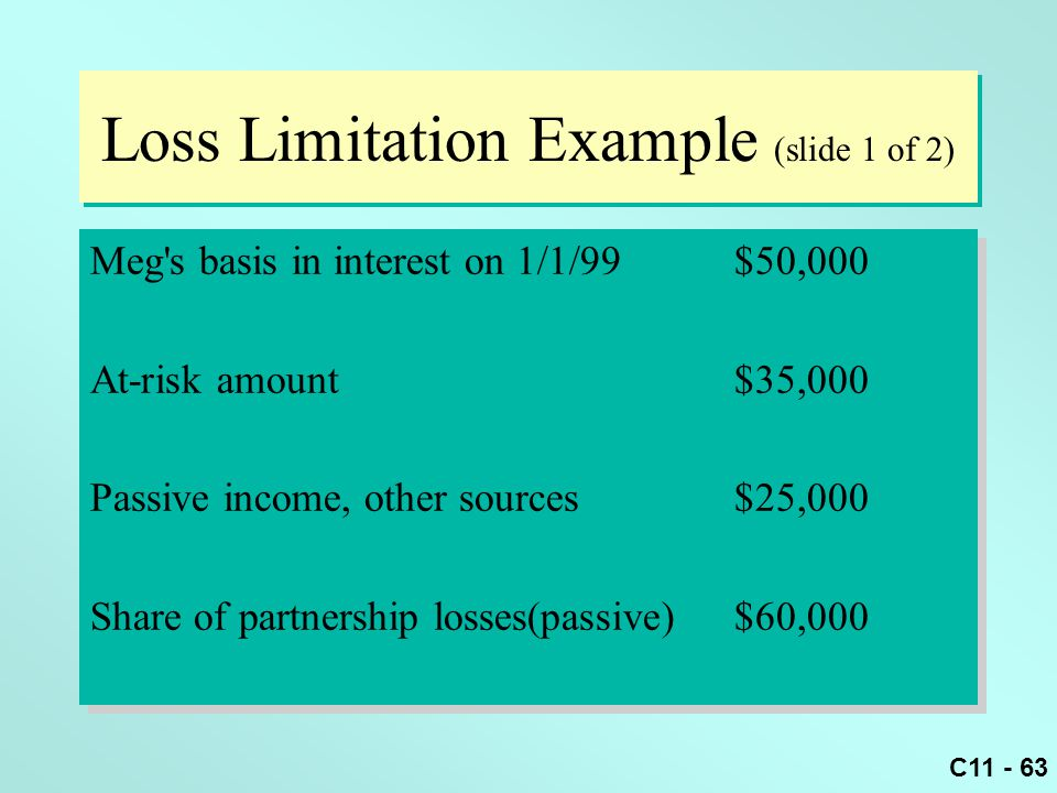 Loss Limitation Example (slide 1 of 2)