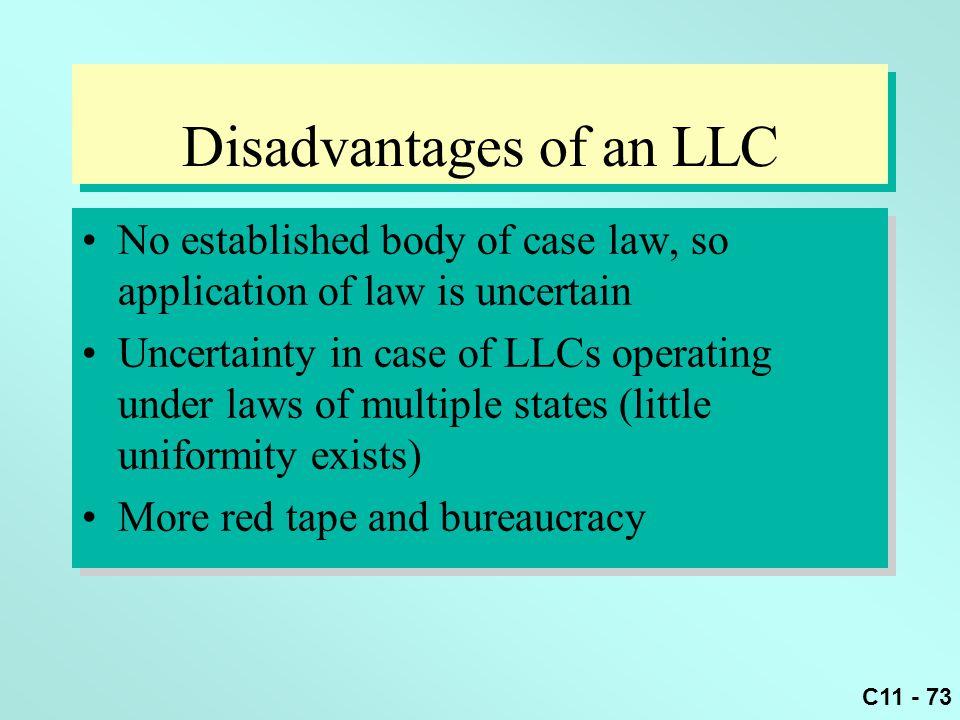 Disadvantages of an LLC