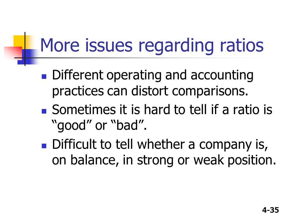 More issues regarding ratios