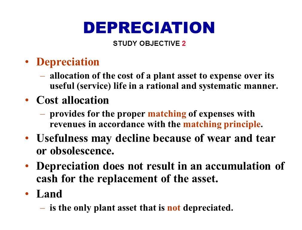 DEPRECIATION Depreciation Cost allocation