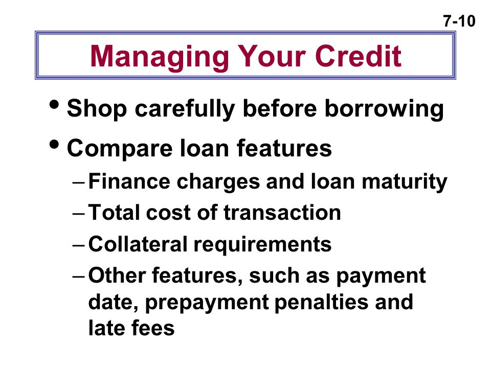 Managing Your Credit Shop carefully before borrowing
