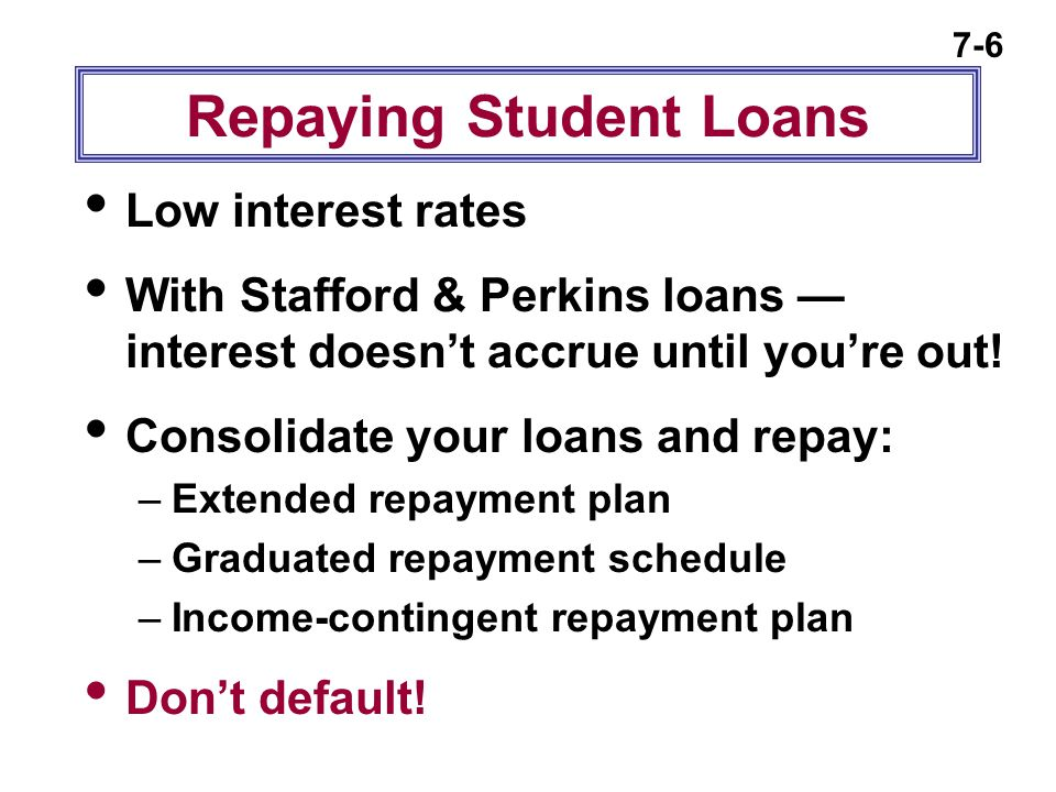 Repaying Student Loans