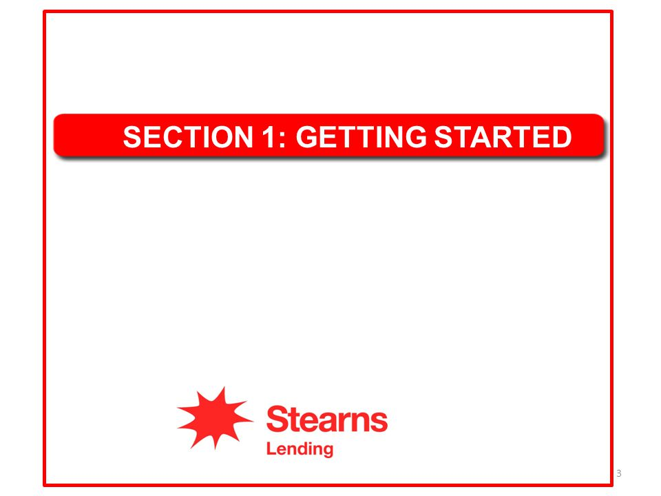 SECTION 1: GETTING STARTED