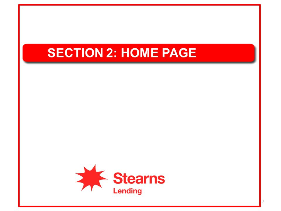 SECTION 2: HOME PAGE