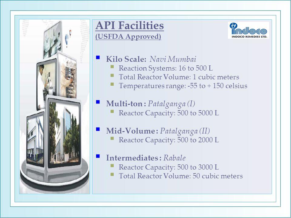API Facilities Kilo Scale: Navi Mumbai Multi-ton : Patalganga (I)
