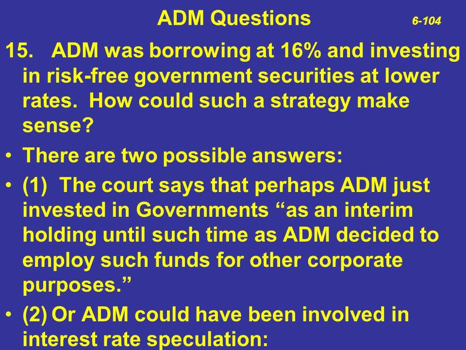 ADM Questions 6-104