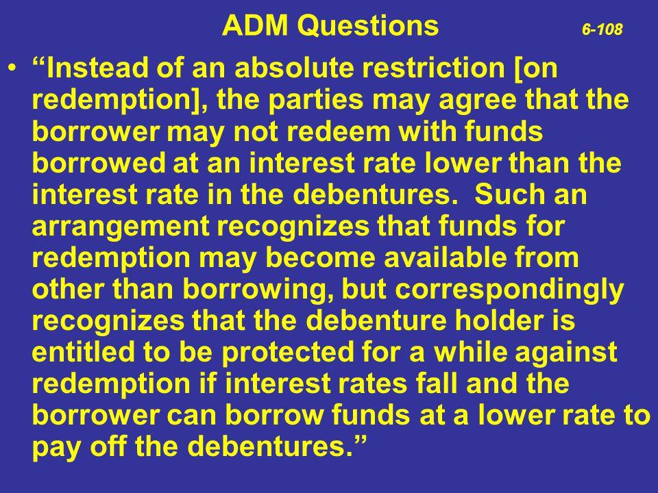 ADM Questions 6-108