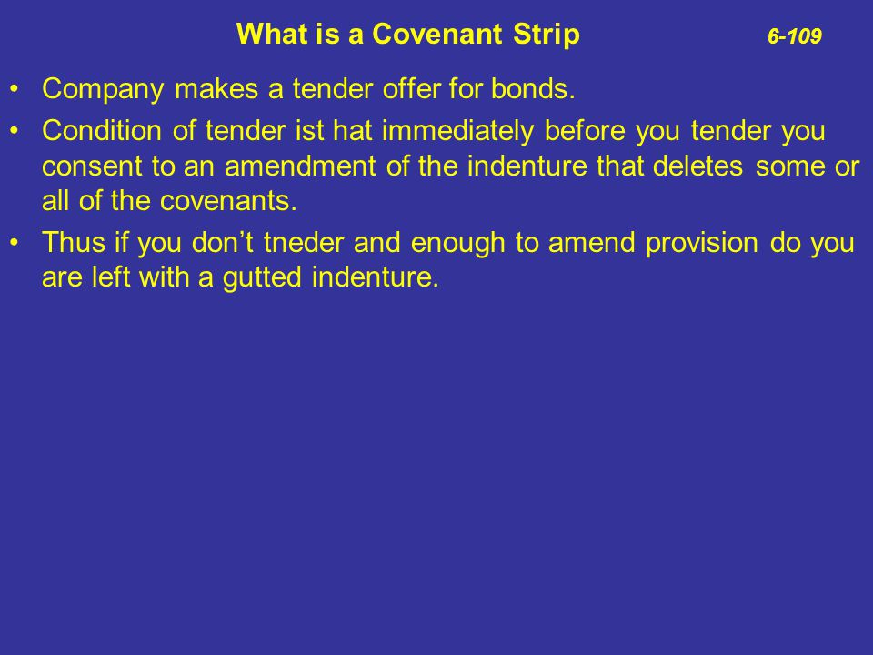 What is a Covenant Strip 6-109