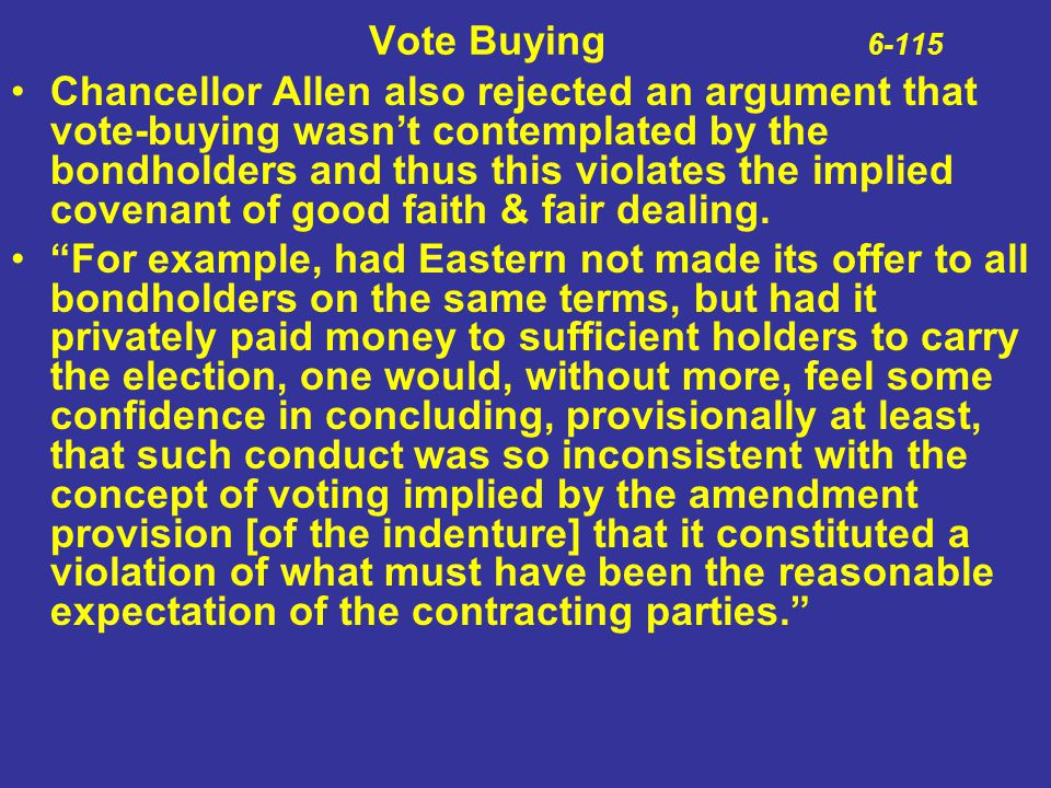 Vote Buying 6-115