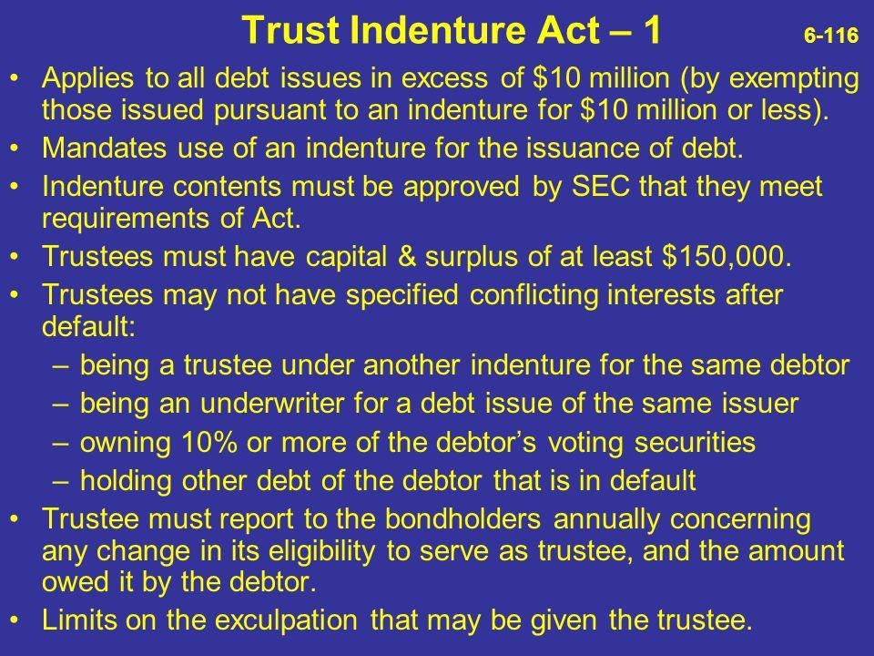 Trust Indenture Act – 1 6-116