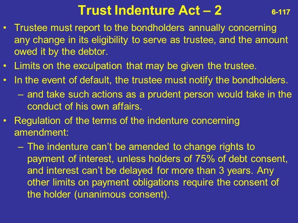 Trust Indenture Act – 2 6-117