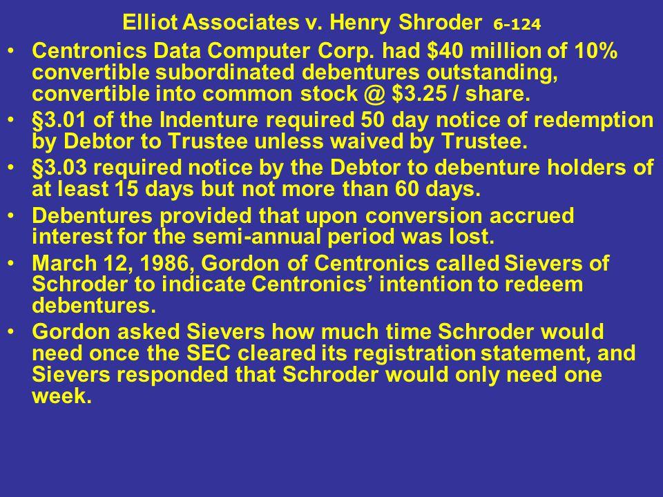Elliot Associates v. Henry Shroder 6-124