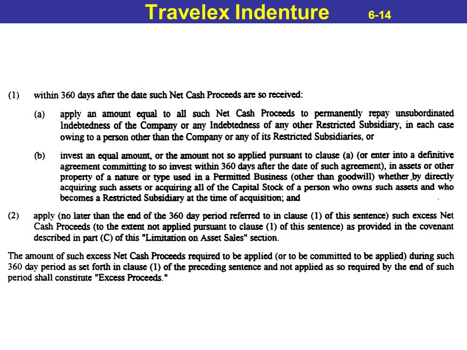 Travelex Indenture 6-14