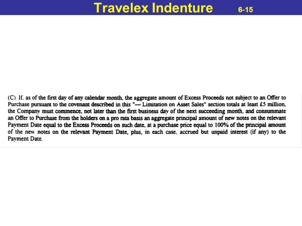 Travelex Indenture 6-15