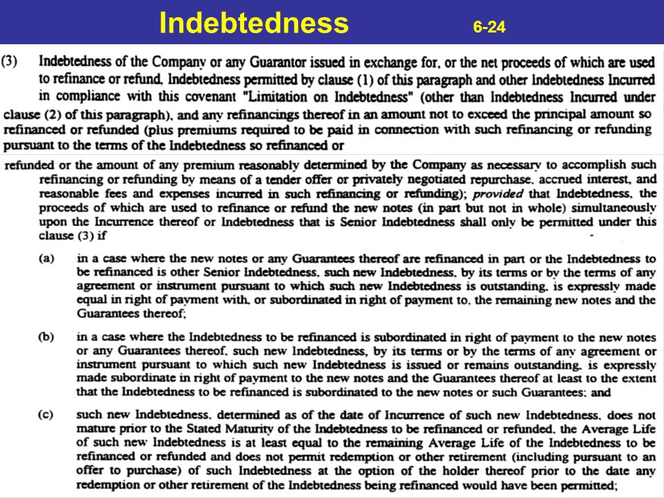 Indebtedness 6-24
