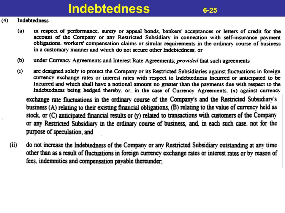 Indebtedness 6-25