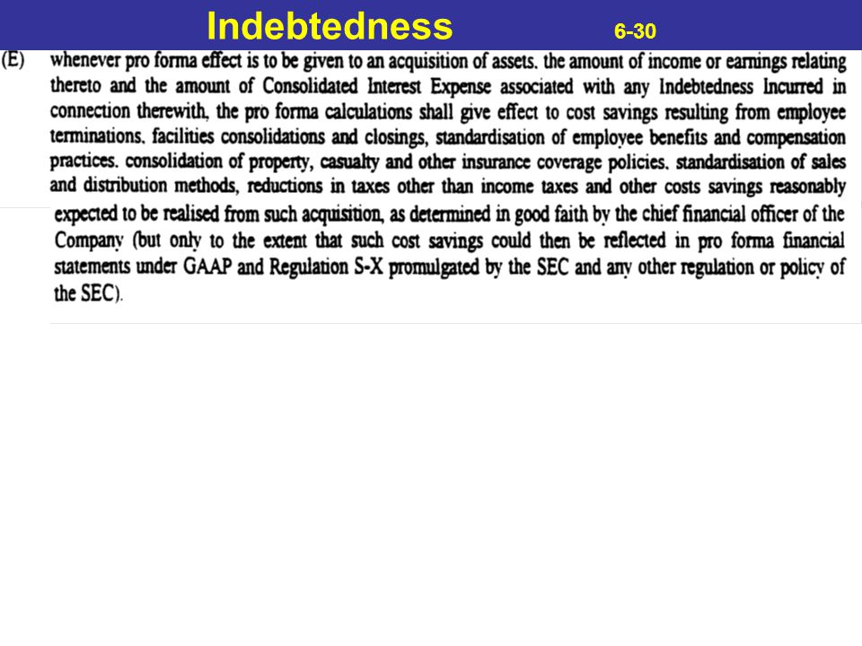 Indebtedness 6-30