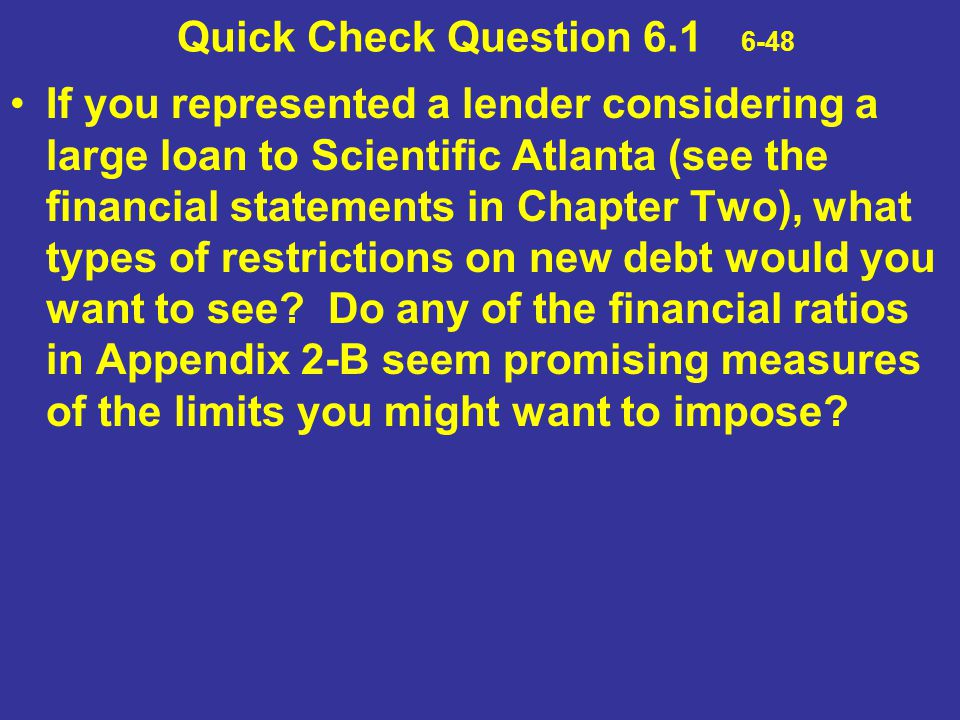 Quick Check Question 6.1 6-48