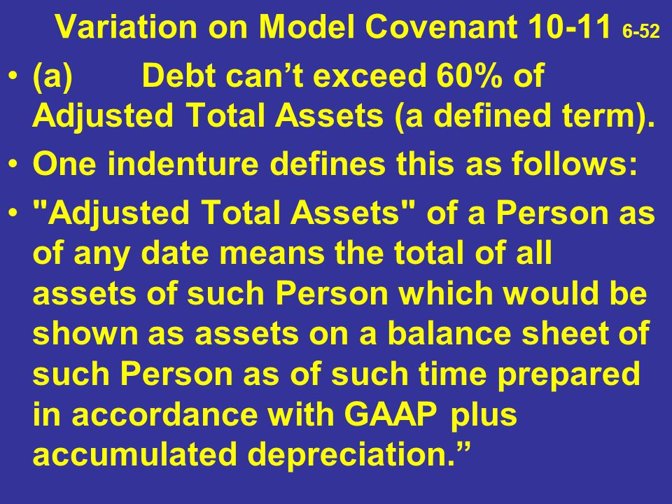 Variation on Model Covenant 10-11 6-52