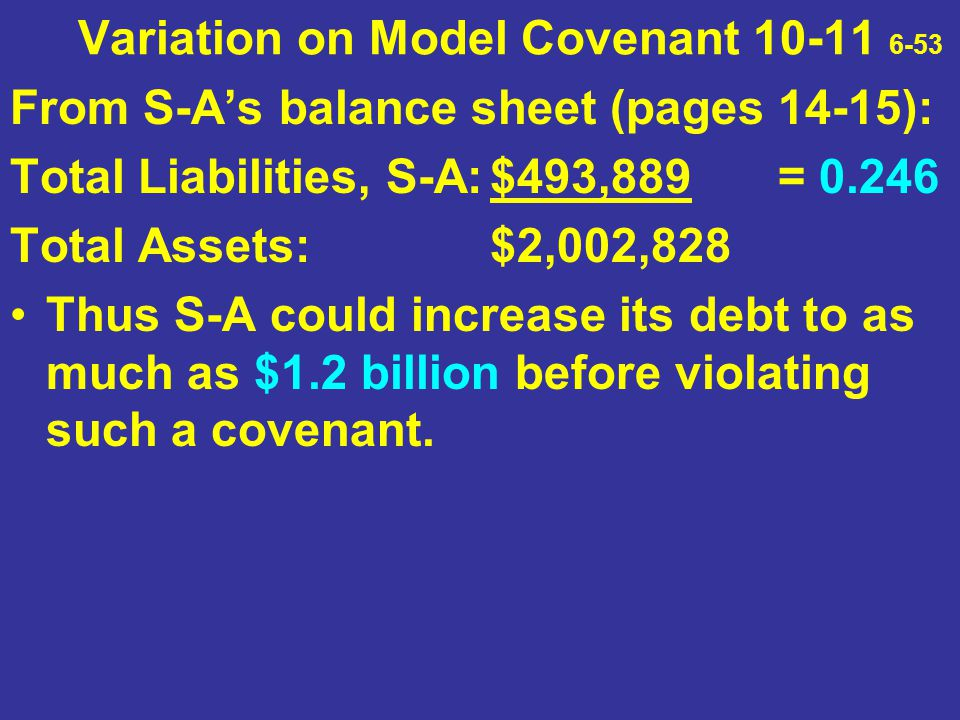 Variation on Model Covenant 10-11 6-53