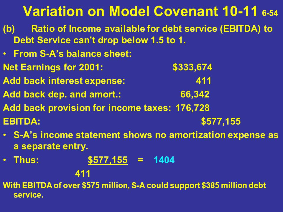 Variation on Model Covenant 10-11 6-54