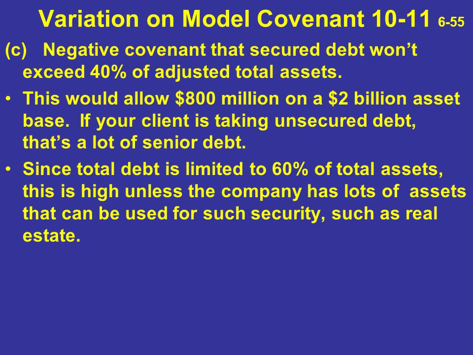 Variation on Model Covenant 10-11 6-55