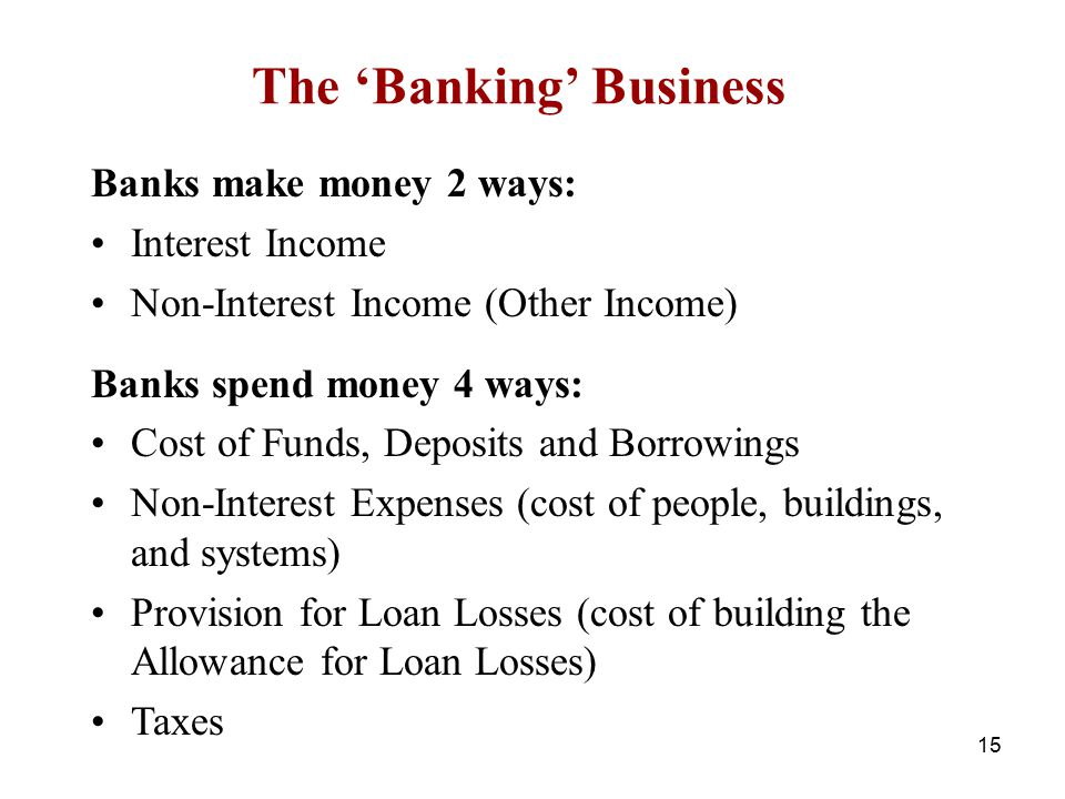 The 'Banking' Business