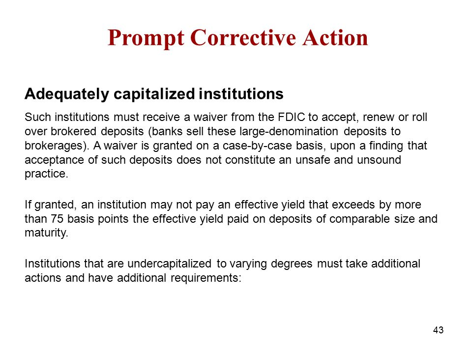 Prompt Corrective Action