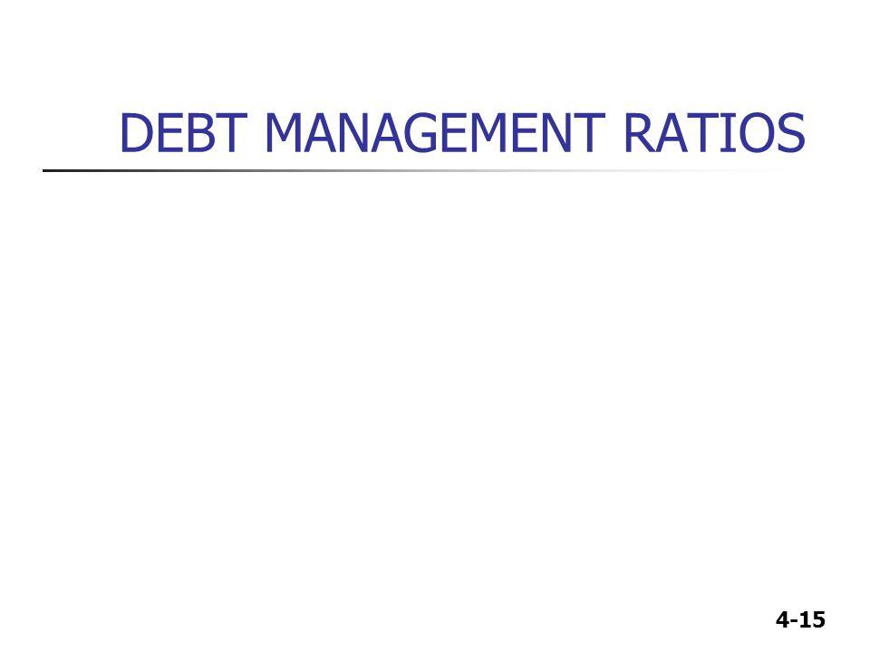 DEBT MANAGEMENT RATIOS