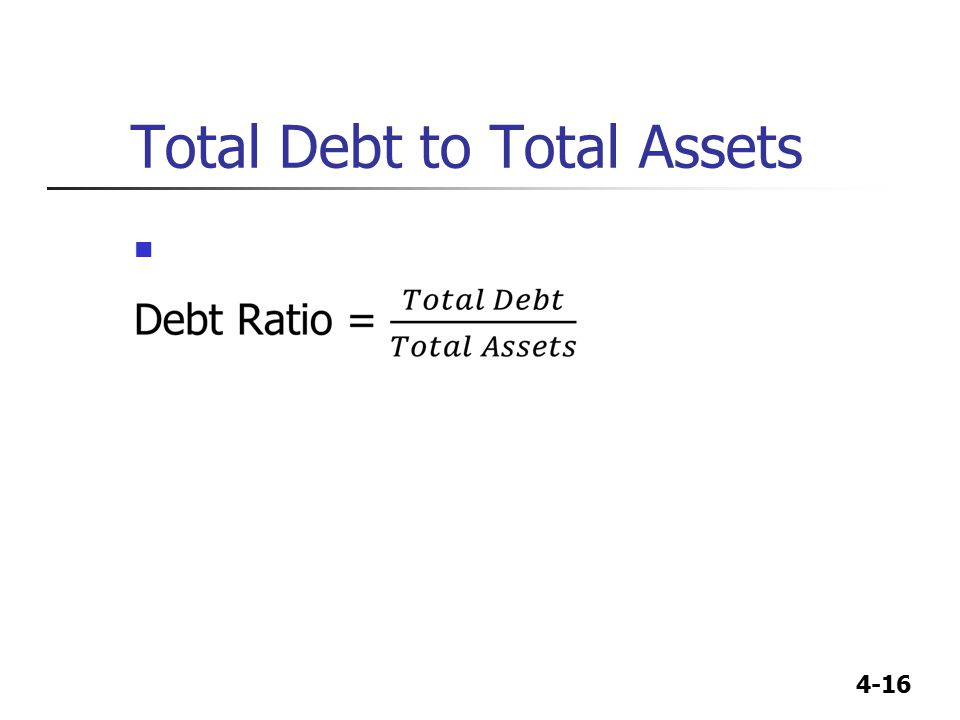 Total Debt to Total Assets