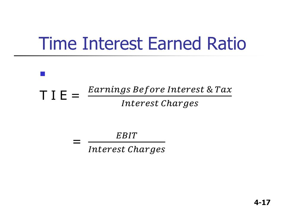 Time Interest Earned Ratio