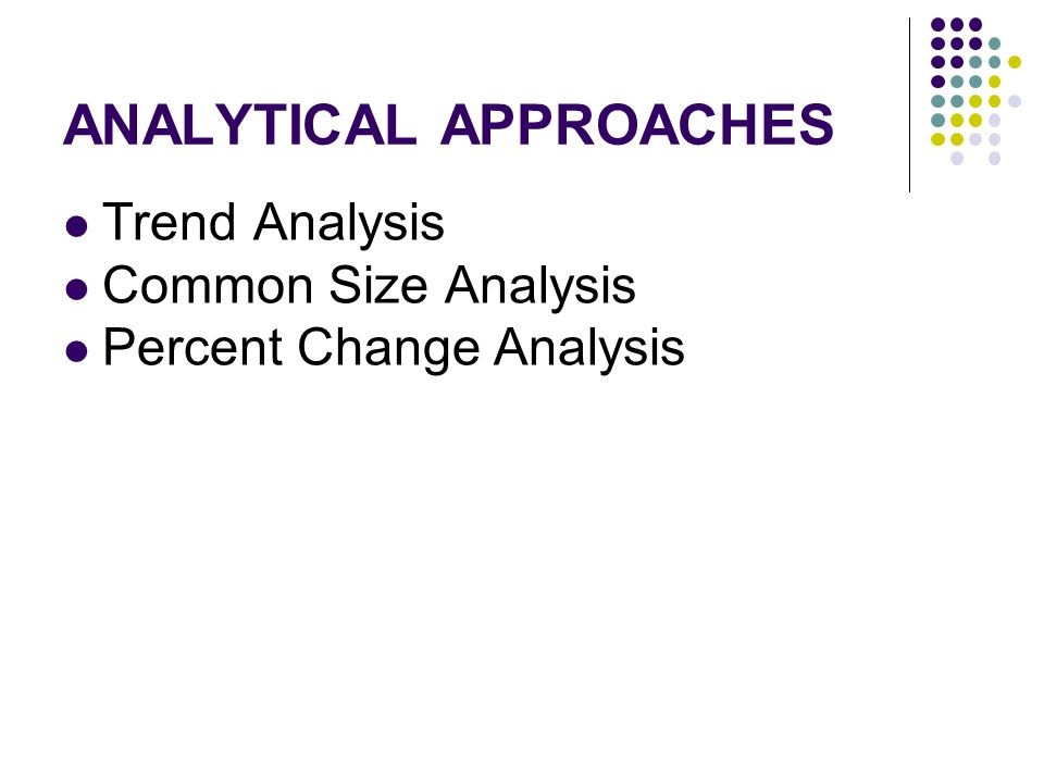 ANALYTICAL APPROACHES