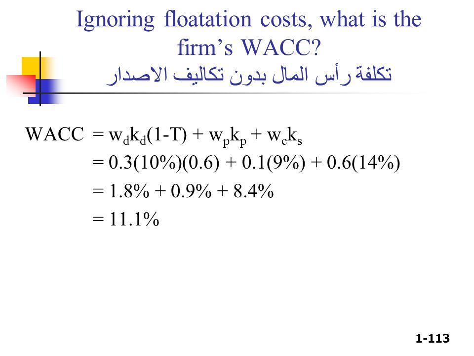Ignoring floatation costs, what is the firm's WACC