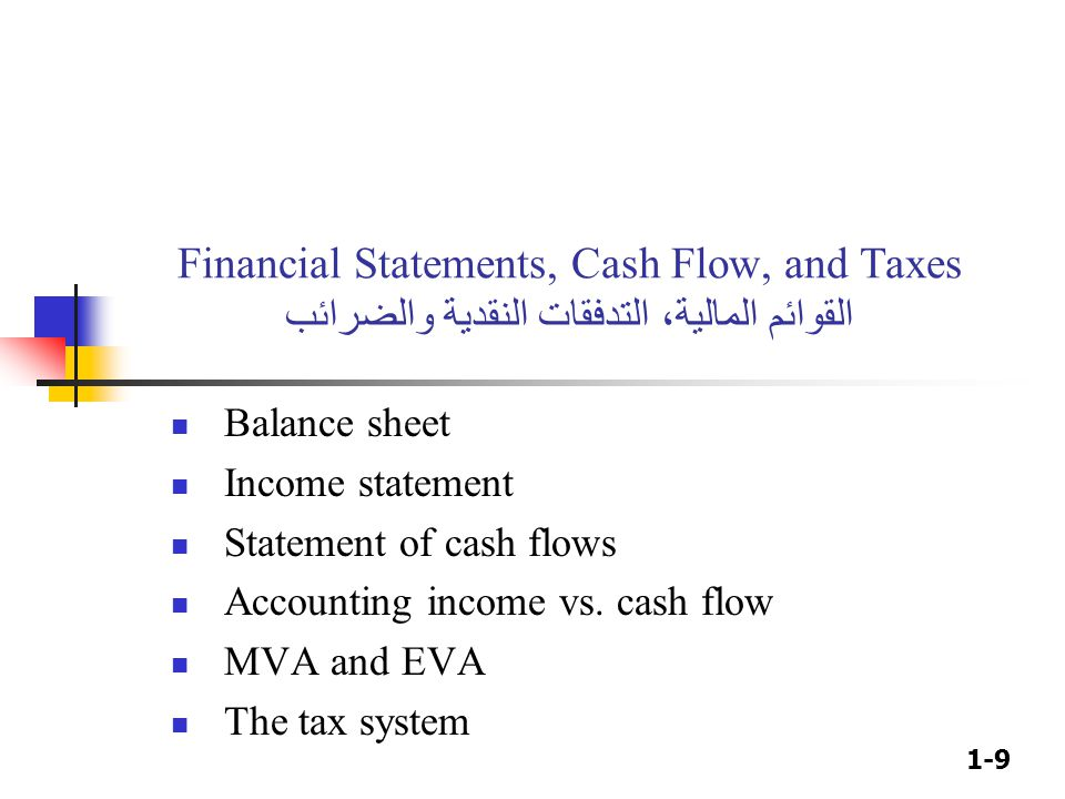 Do tax liabilities appear in the financial statements?