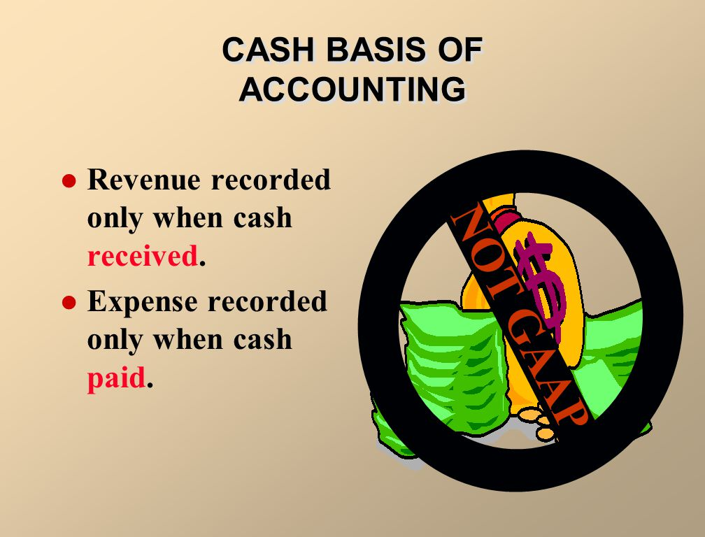CASH BASIS OF ACCOUNTING