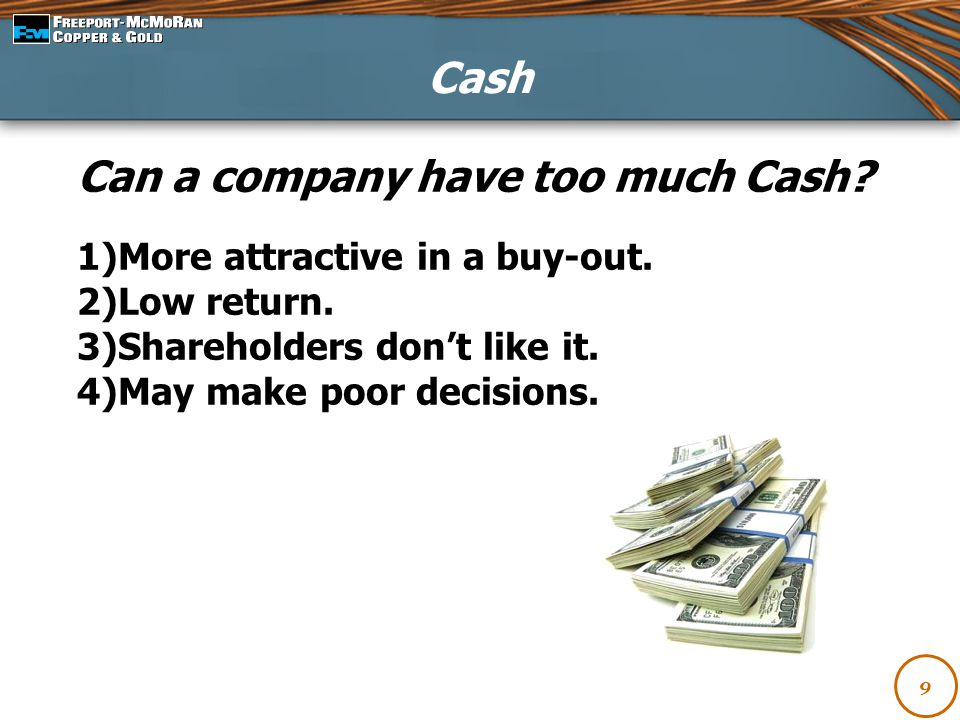 Can a company have too much Cash