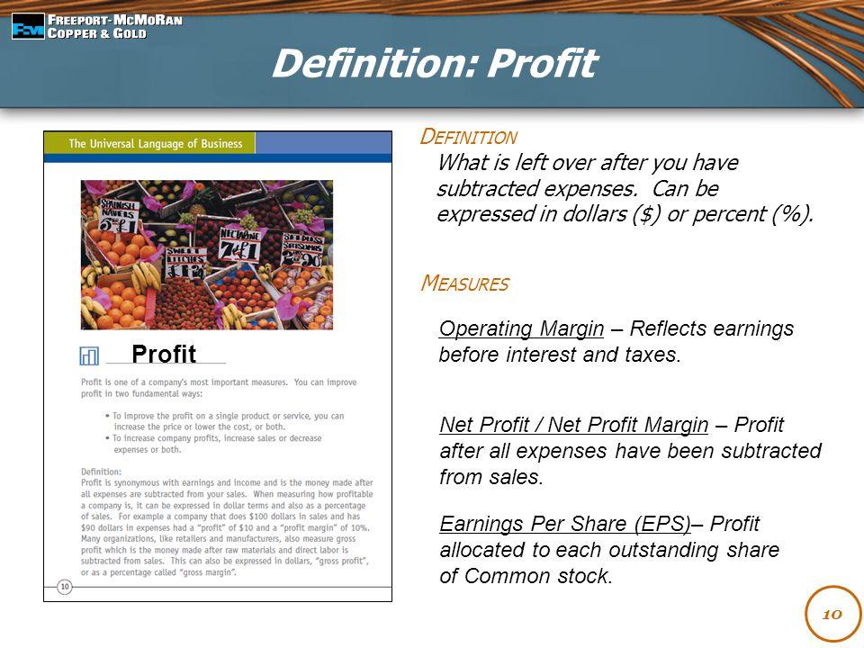 Definition: Profit Profit Definition