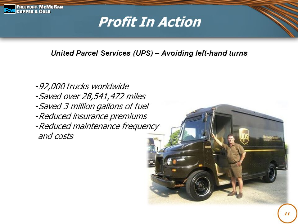 United Parcel Services (UPS) – Avoiding left-hand turns