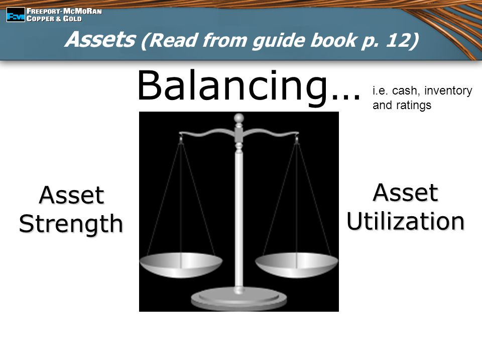 Assets (Read from guide book p. 12)