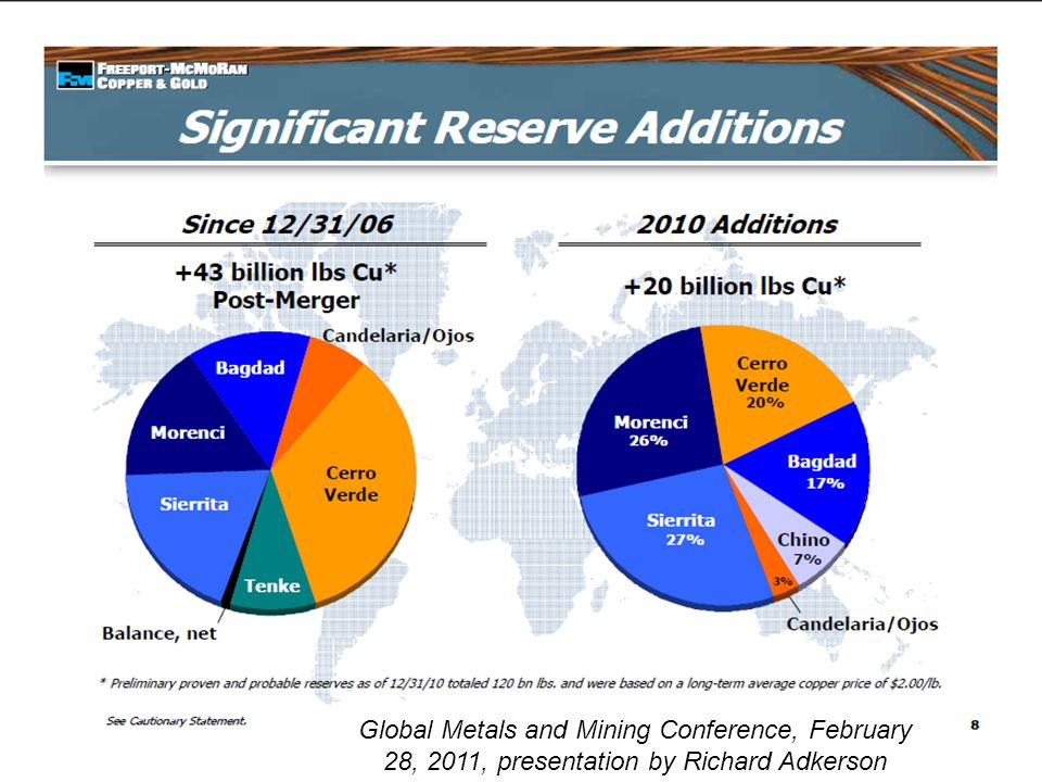 Global Metals and Mining Conference, February 28, 2011, presentation by Richard Adkerson