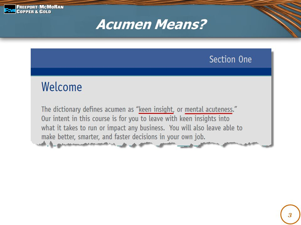 Acumen Means 3